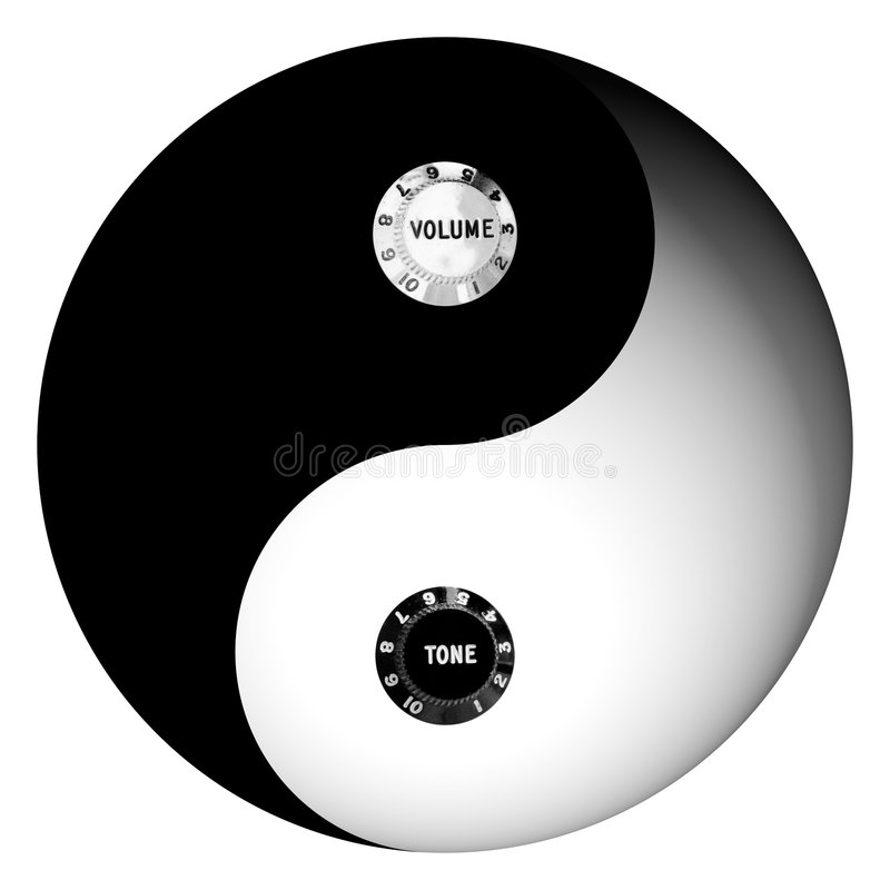 ραδιο yang έννοιας yin απεικόνιση αποθεμάτων