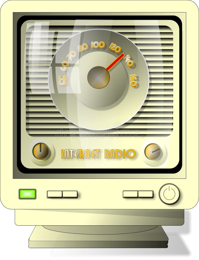 ραδιόφωνο Διαδικτύου Στοκ Φωτογραφίες