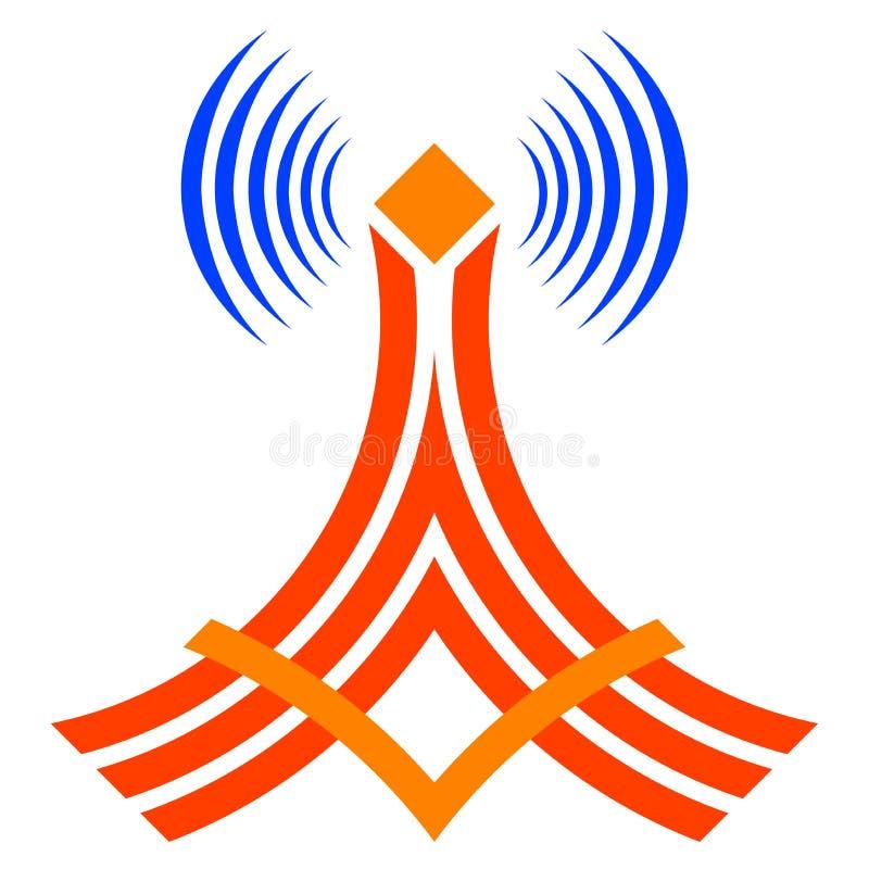 ραδιόφωνο πύργων επικοινωνίας διανυσματική απεικόνιση
