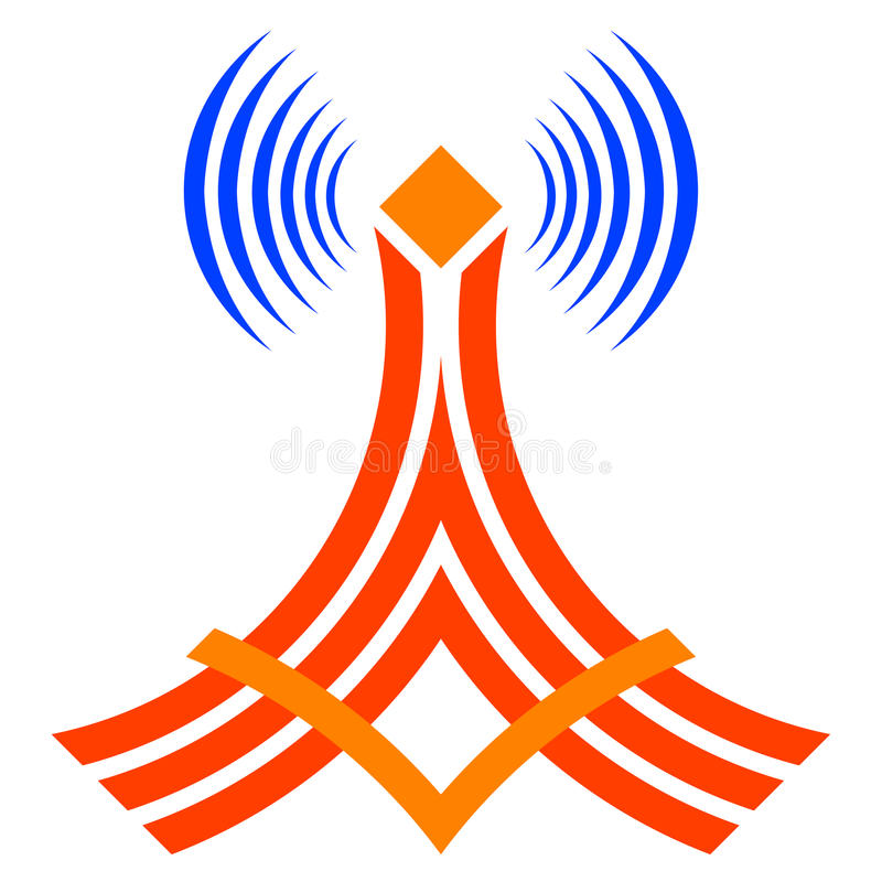 Download ραδιόφωνο πύργων επικοινωνίας Διανυσματική απεικόνιση - εικονογραφία από διευκρινισμένος, μαύρα: 22795667