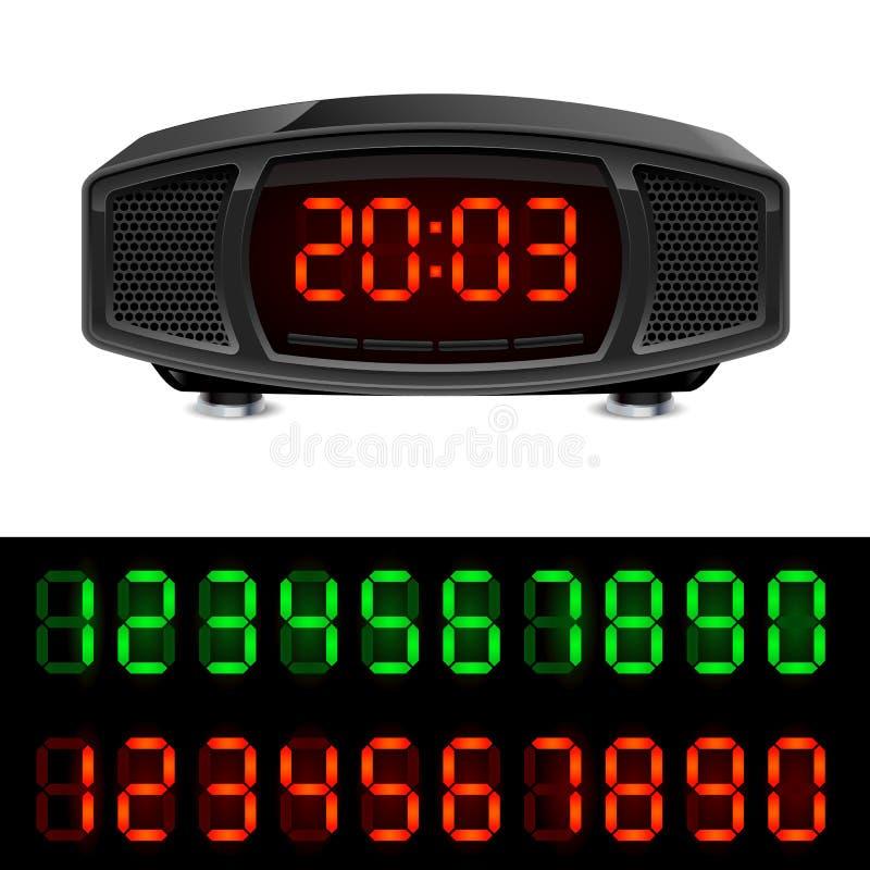 ραδιόφωνο ρολογιών συνα& διανυσματική απεικόνιση