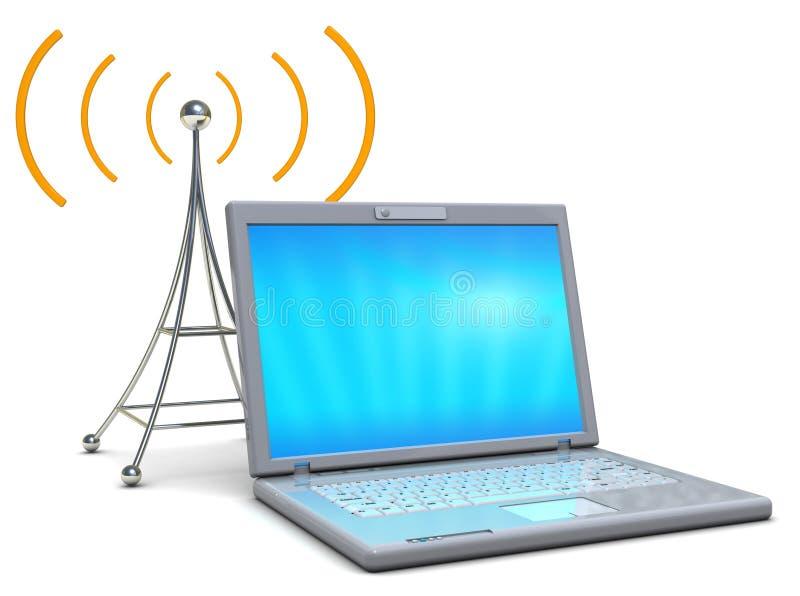 ραδιόφωνο lap-top διανυσματική απεικόνιση