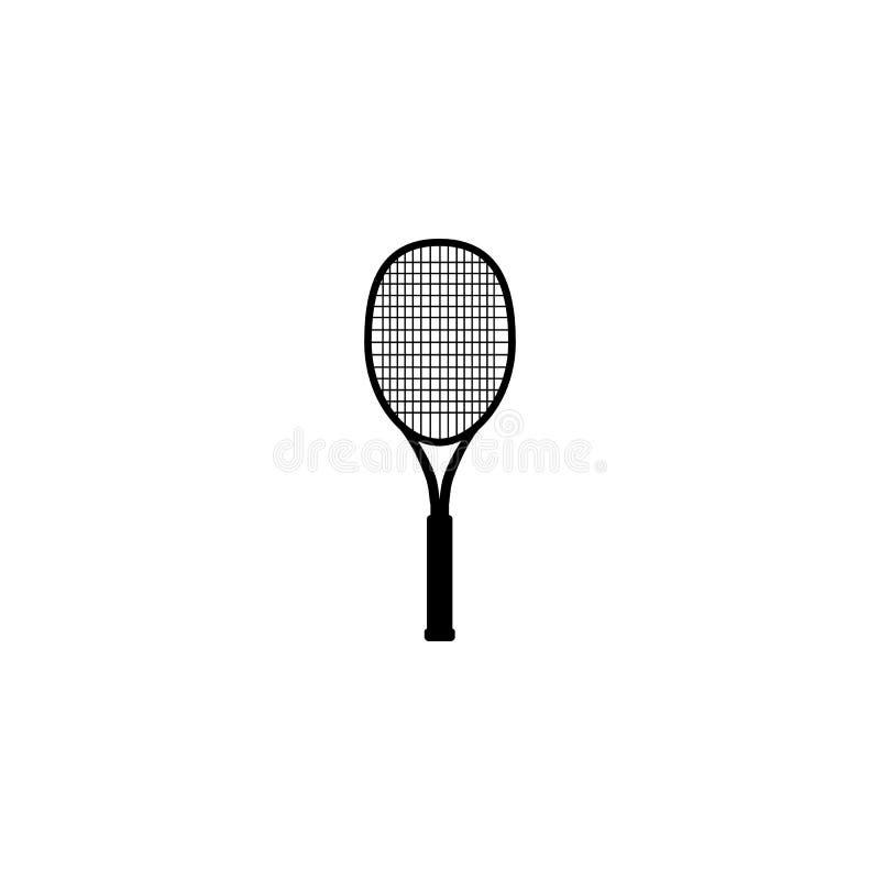 Ρακέτα αντισφαίρισης, διανυσματική απεικόνιση Σχέδιο αντισφαίρισης πέρα από το άσπρο υπόβαθρο Αθλητισμός, ικανότητα, διανυσματικό απεικόνιση αποθεμάτων
