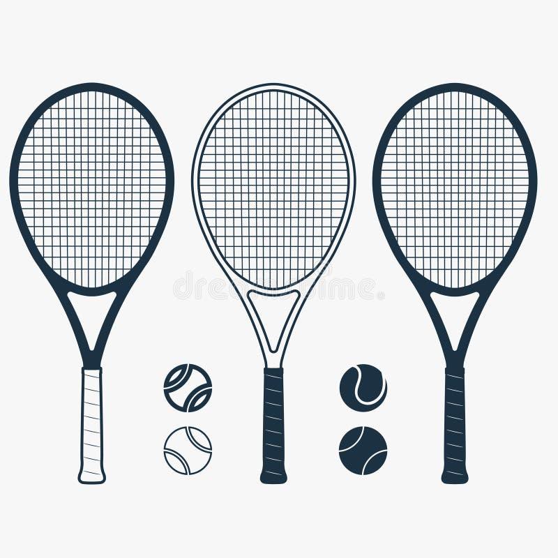 Ρακέτα αντισφαίρισης και σφαίρα, διάνυσμα διανυσματική απεικόνιση