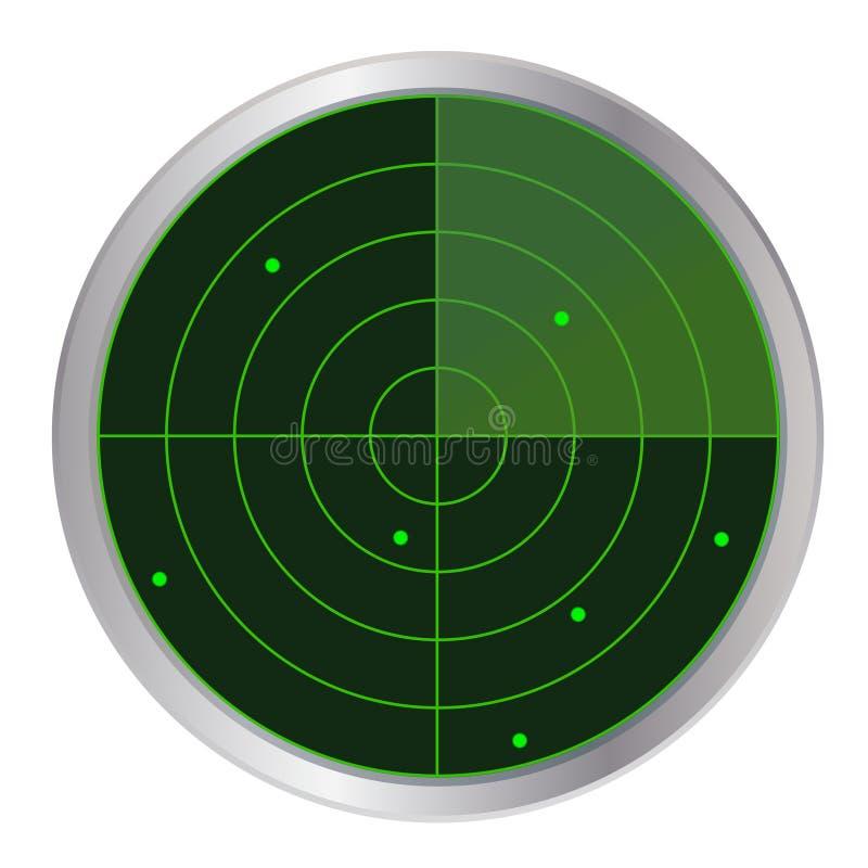 ραντάρ κουμπιών διανυσματική απεικόνιση