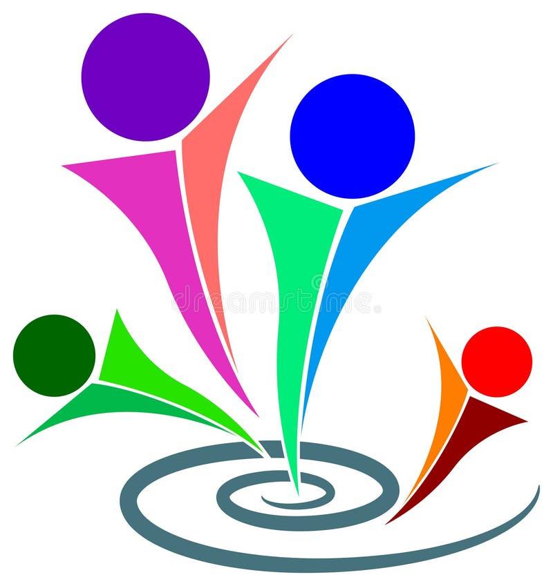 ραντεβού λογότυπων διανυσματική απεικόνιση
