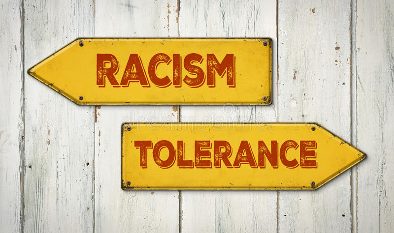 Ρατσισμός ή ανοχή στοκ φωτογραφίες με δικαίωμα ελεύθερης χρήσης