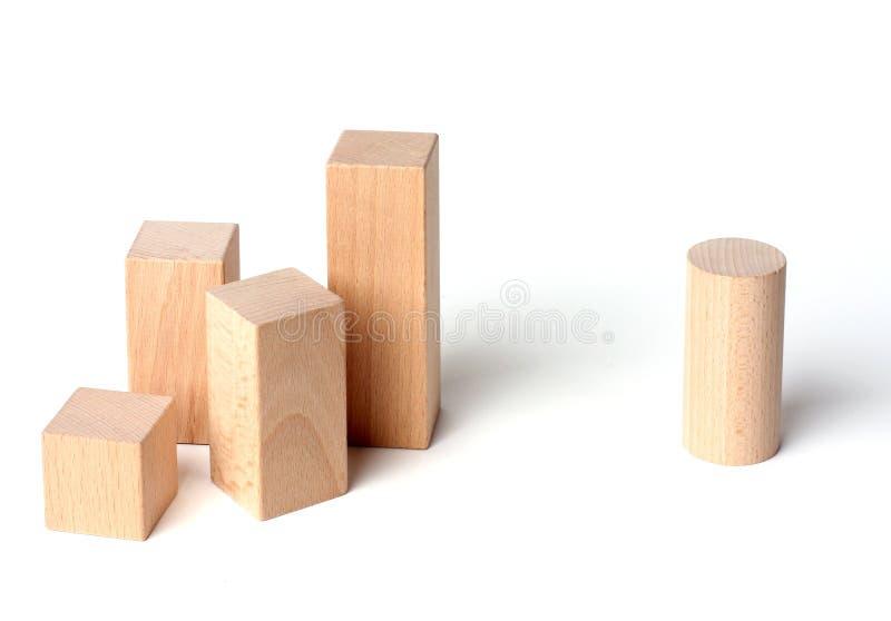 ρατσισμός κύβων ξύλινος στοκ φωτογραφία με δικαίωμα ελεύθερης χρήσης
