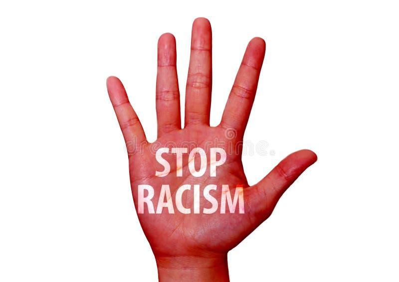 Ρατσισμός στάσεων που γράφεται σε ετοιμότητα στοκ φωτογραφία με δικαίωμα ελεύθερης χρήσης