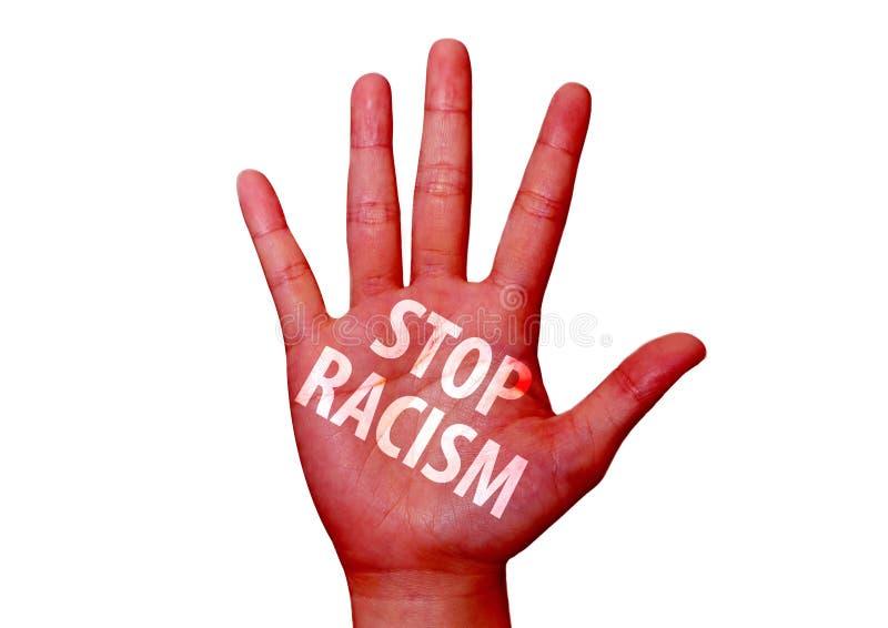 Ρατσισμός στάσεων που γράφεται σε ετοιμότητα στοκ εικόνες