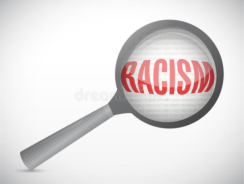 Ρατσισμός υπό έρευνα. απεικόνιση έννοιας ελεύθερη απεικόνιση δικαιώματος