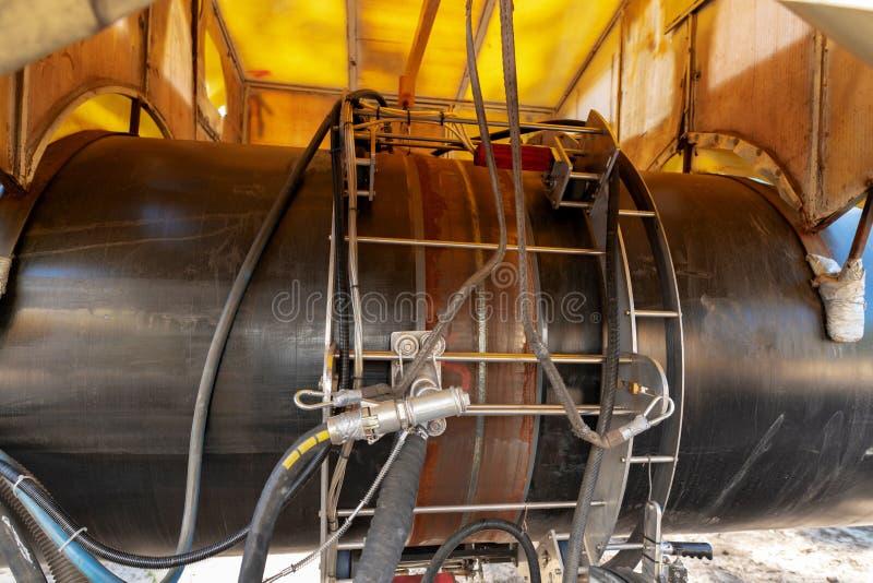 Ραφή συγκόλλησης σε έναν αγωγό υγραερίου στοκ φωτογραφίες με δικαίωμα ελεύθερης χρήσης