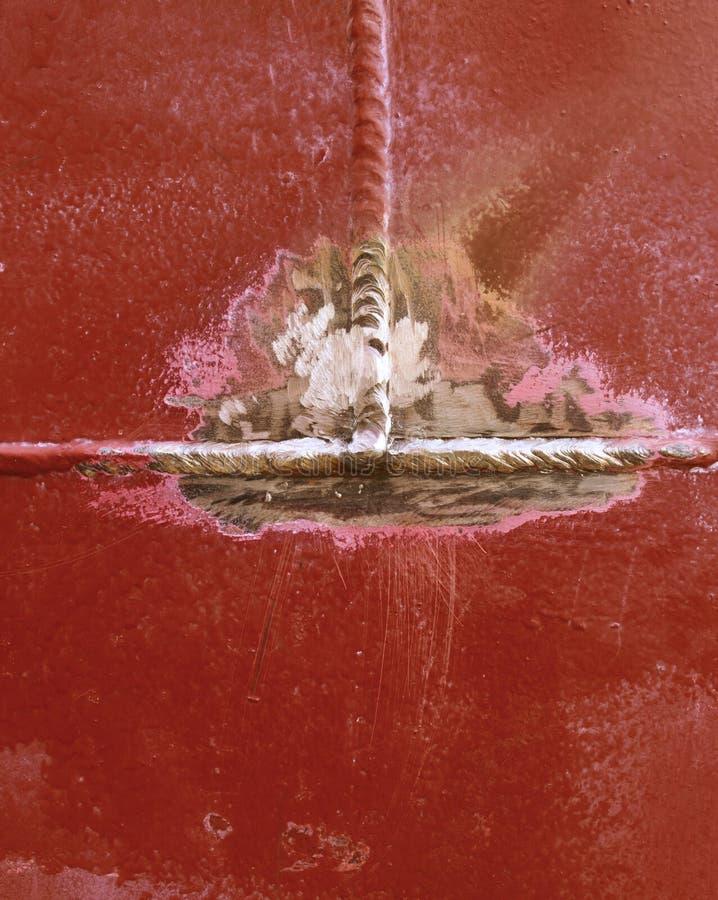 Ραφή συγκόλλησης, υπόβαθρο μετάλλων στοκ εικόνα με δικαίωμα ελεύθερης χρήσης