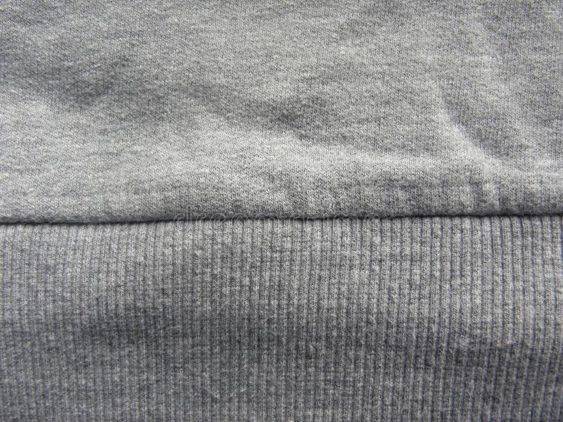 Ραφή του σκούρο γκρι υφάσματος βαμβακιού χρώματος στοκ φωτογραφίες