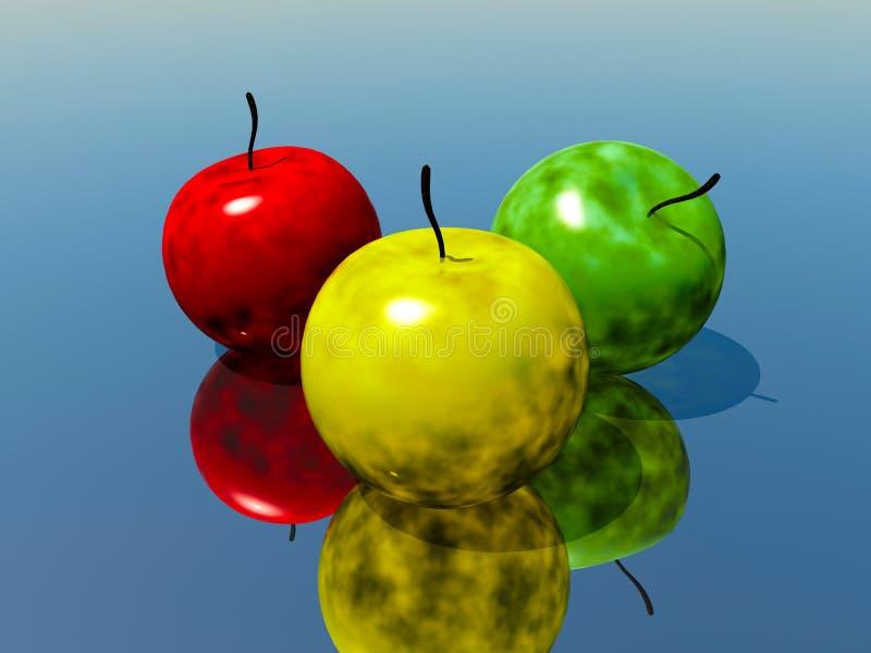Ραδιενεργά μήλα διανυσματική απεικόνιση