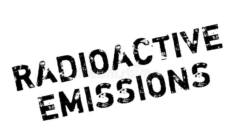 Ραδιενεργός σφραγίδα εκπομπών ελεύθερη απεικόνιση δικαιώματος
