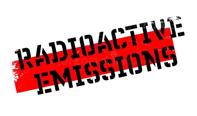 Ραδιενεργός σφραγίδα εκπομπών απεικόνιση αποθεμάτων