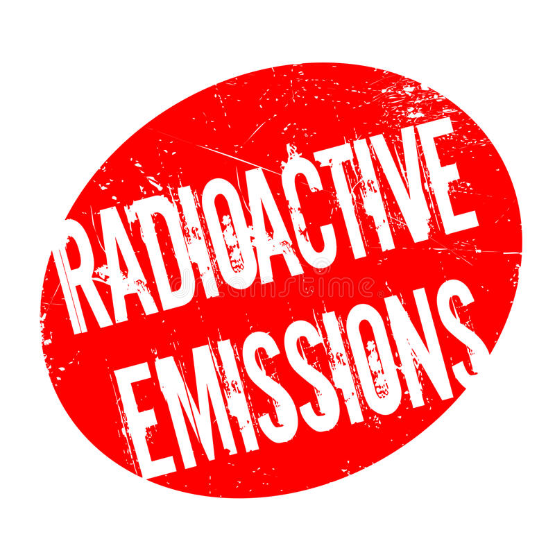 Ραδιενεργός σφραγίδα εκπομπών διανυσματική απεικόνιση