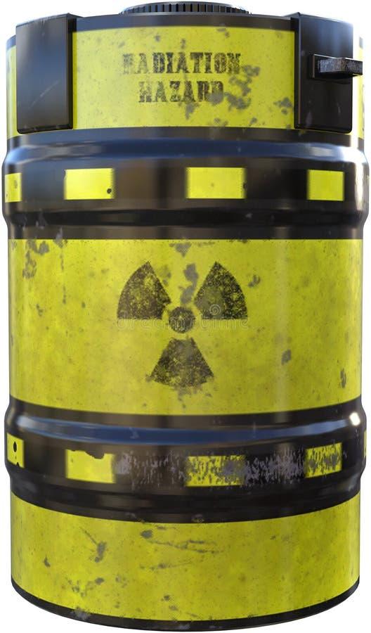 Ραδιενεργό υλικό πυρηνικών αποβλήτων που απομονώνεται στοκ εικόνες