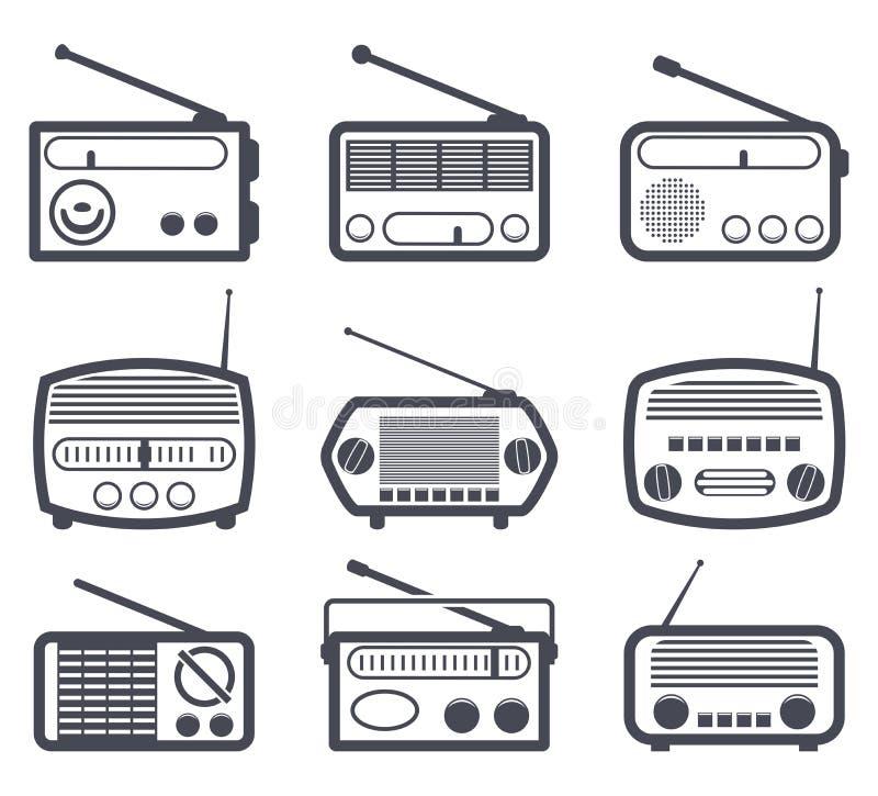 Ραδιο εικονίδια ελεύθερη απεικόνιση δικαιώματος