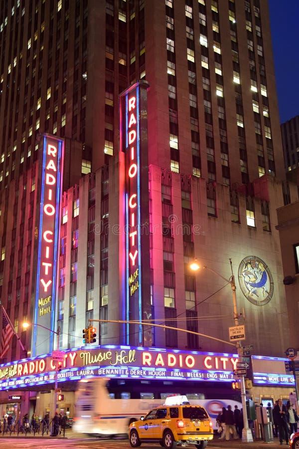 Ραδιο μέγαρο μουσικής πόλεων στη Νέα Υόρκη στοκ εικόνες
