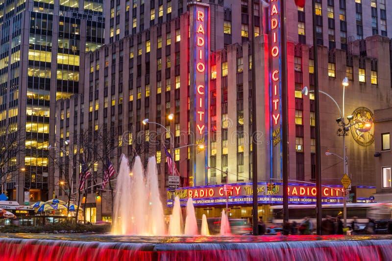 Ραδιο μέγαρο μουσικής πόλεων στοκ εικόνα με δικαίωμα ελεύθερης χρήσης