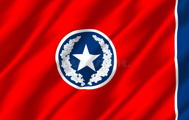 Ρεαλιστική απεικόνιση σημαιών του Σατανούγκα απεικόνιση αποθεμάτων