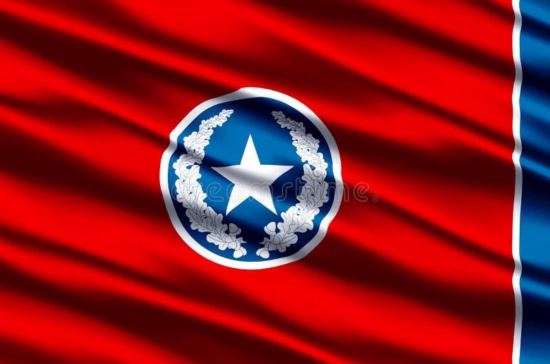 Ρεαλιστική απεικόνιση σημαιών του Σατανούγκα ελεύθερη απεικόνιση δικαιώματος