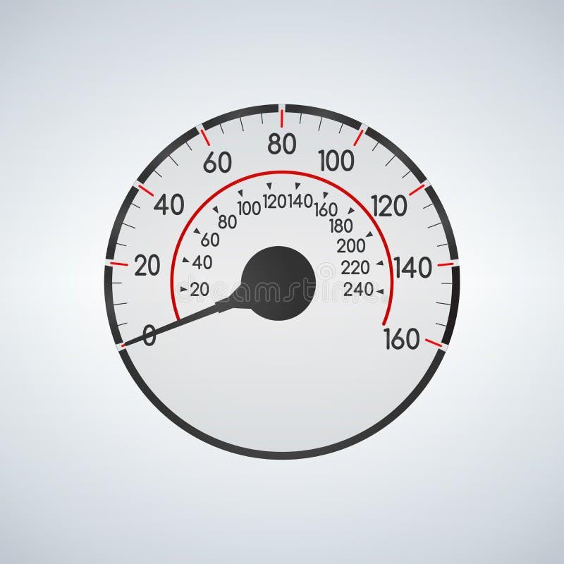 Ρεαλιστική διεπαφή ταχυμέτρων αυτοκινήτων Επιτροπή ταμπλό για την αυτοκινητική απεικόνιση μεταφορών διανυσματική απεικόνιση