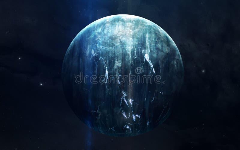 Ρεαλιστική εικόνα Ουρανού, πλανήτης του ηλιακού συστήματος Εκπαιδευτική εικόνα Στοιχεία αυτής της εικόνας που εφοδιάζεται από τη  στοκ εικόνες με δικαίωμα ελεύθερης χρήσης