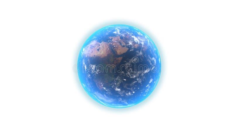 Ρεαλιστική σφαίρα γήινων πλανητών στο άσπρο υπόβαθρο ελεύθερη απεικόνιση δικαιώματος
