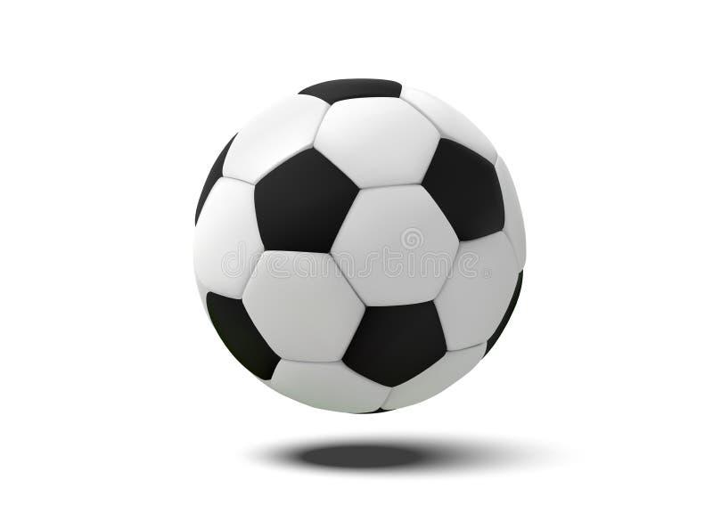 Ρεαλιστική σφαίρα ποδοσφαίρου ή σφαίρα ποδοσφαίρου στο άσπρο υπόβαθρο τρισδιάστατη διανυσματική σφαίρα ύφους που απομονώνεται στο διανυσματική απεικόνιση