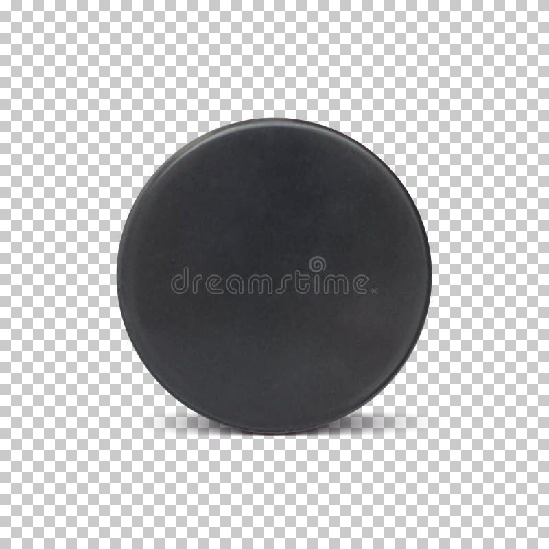 Ρεαλιστική σφαίρα χόκεϋ πάγου ελεύθερη απεικόνιση δικαιώματος