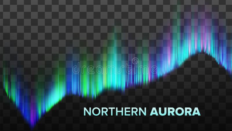 Ρεαλιστική σύνθεση του βόρειου διανύσματος αυγής απεικόνιση αποθεμάτων