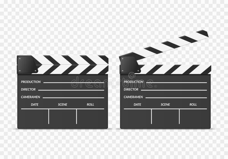 Ρεαλιστικοί τρισδιάστατοι λεπτομερείς Clapper πίνακες καθορισμένοι r απεικόνιση αποθεμάτων