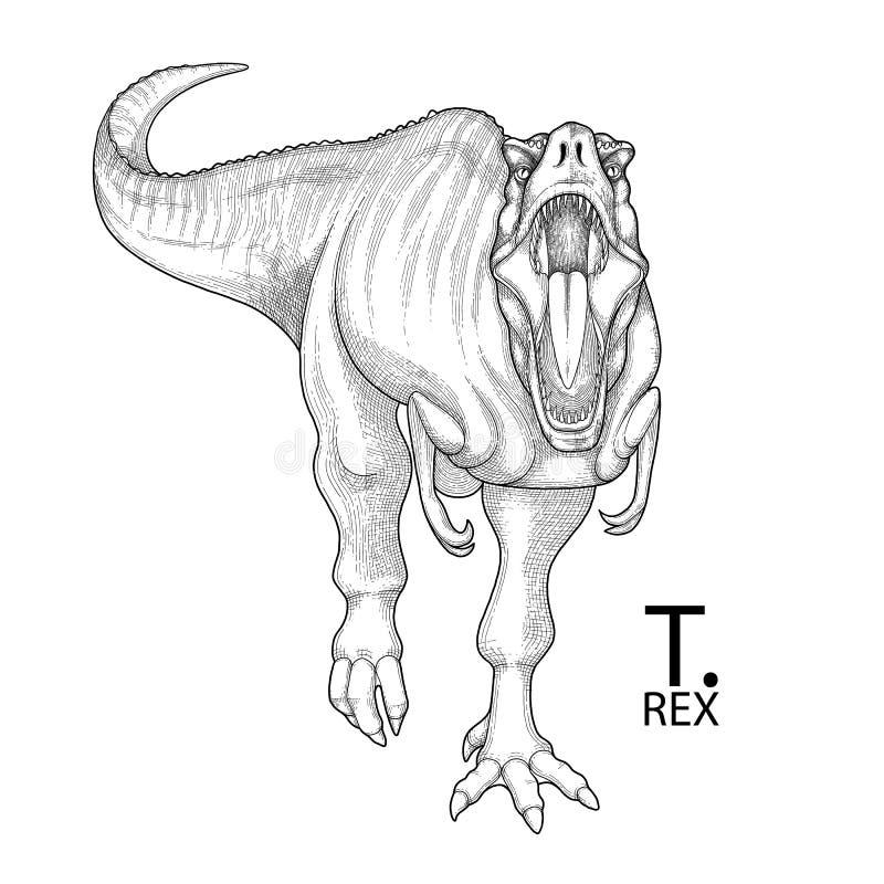 Ρεαλιστικός γραφικός δεινόσαυρος απεικόνιση αποθεμάτων