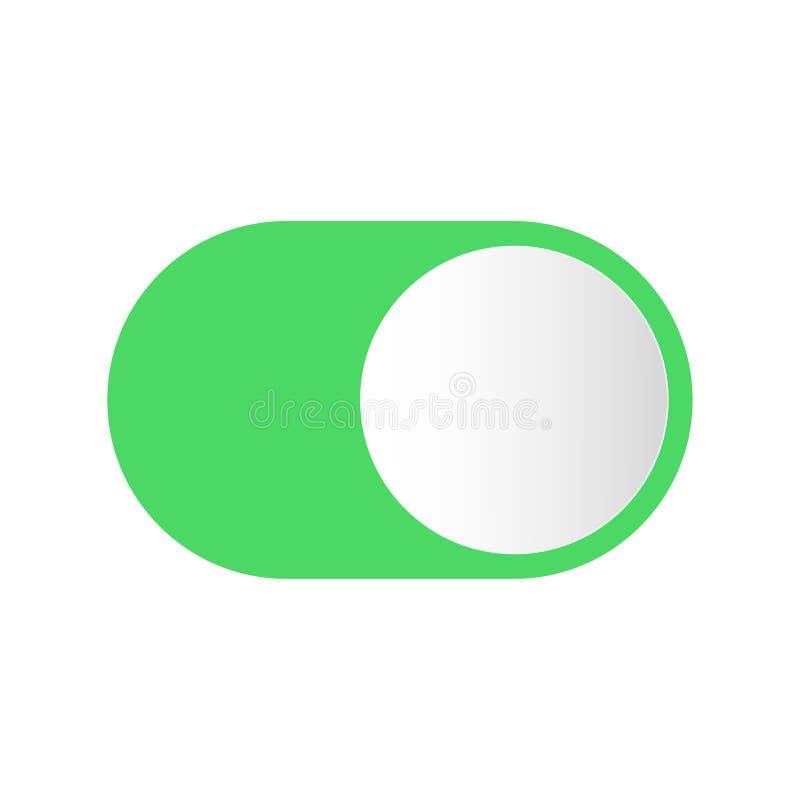 Ρεαλιστικός διακόπτης κουμπιών για να ανοίξει μακριά διανυσματική απεικόνιση