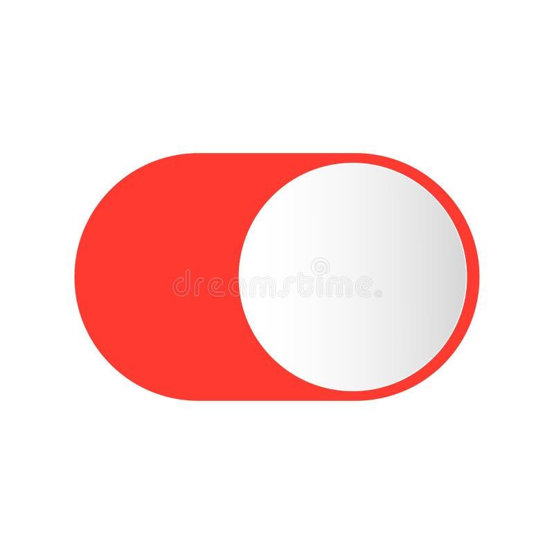 Ρεαλιστικός διακόπτης κουμπιών για να ανοίξει μακριά απεικόνιση αποθεμάτων