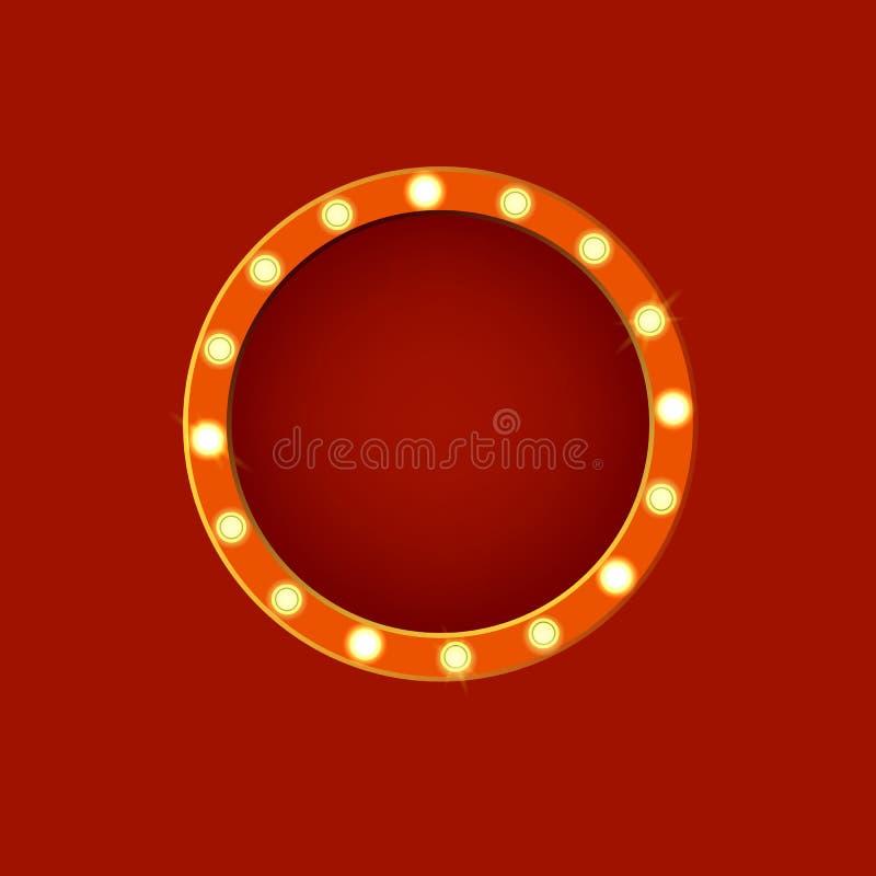 Ρεαλιστικός λεπτομερής τρισδιάστατος καμμένος κύκλος σημαδιών διάνυσμα διανυσματική απεικόνιση