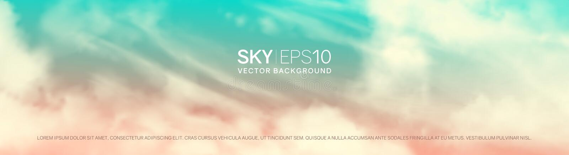 Ρεαλιστικός ρόδινος-μπλε ουρανός απεικόνιση αποθεμάτων