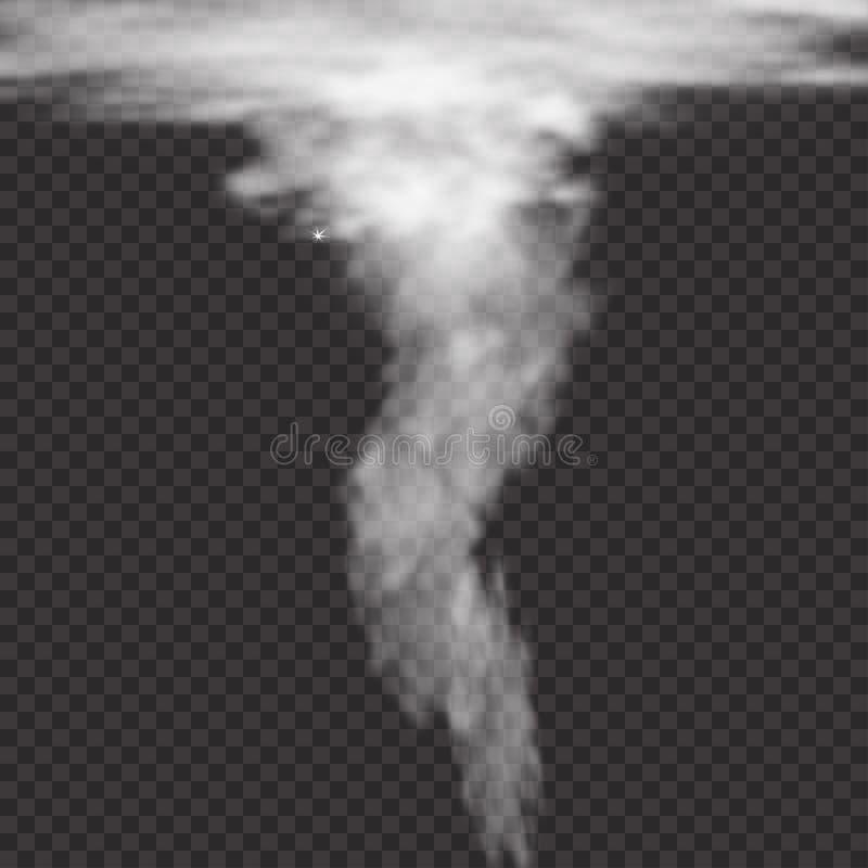 Ρεαλιστικός στρόβιλος ανεμοστροβίλου στο ελεγμένο υπόβαθρο Στρόβιλος κυκλώνων ανεμοστροβίλου, τυφώνας δυσκολοπρόφερτων λέξεων whi απεικόνιση αποθεμάτων