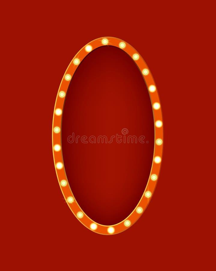Ρεαλιστικό λεπτομερές τρισδιάστατο Oval σημαδιών πυράκτωσης διάνυσμα διανυσματική απεικόνιση