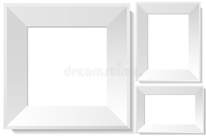 ρεαλιστικό λευκό φωτογ ελεύθερη απεικόνιση δικαιώματος