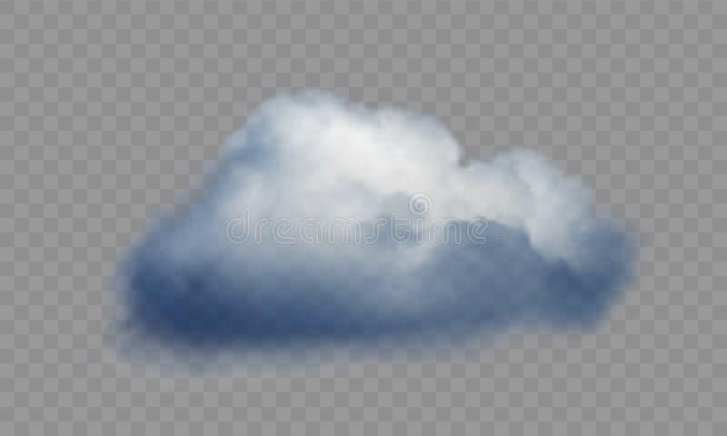 Ρεαλιστικό σύννεφο πέρα από το διαφανές υπόβαθρο r ελεύθερη απεικόνιση δικαιώματος