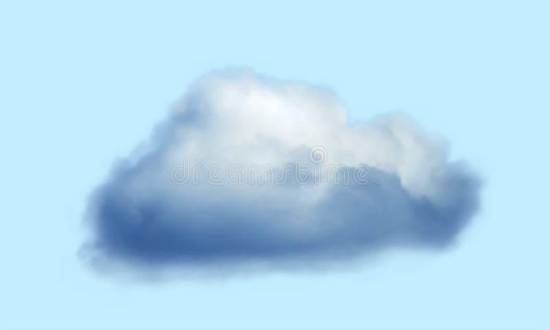 Ρεαλιστικό σύννεφο πέρα από το διαφανές υπόβαθρο r διανυσματική απεικόνιση