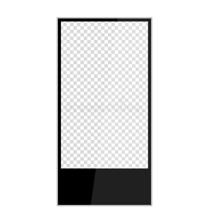 Ρεαλιστικό υπαίθριο lightbox που απομονώνεται στο άσπρο υπόβαθρο διανυσματική απεικόνιση