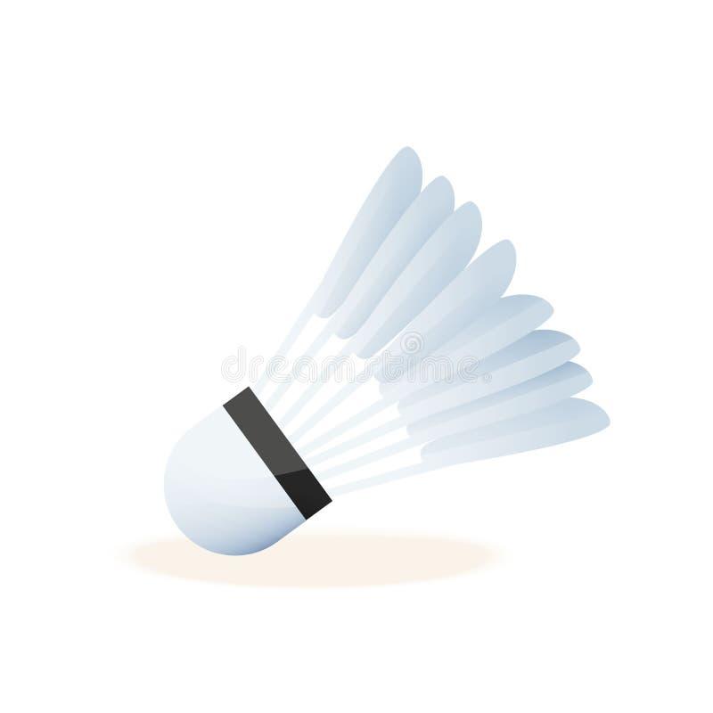 Ρεαλιστικό shuttlecock για τη μεγάλη αντισφαίριση, μπάντμιντον, κινηματογράφηση σε πρώτο πλάνο ελεύθερη απεικόνιση δικαιώματος