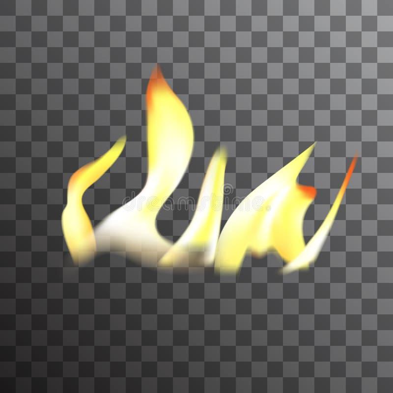 Ρεαλιστική διανυσματική επίδραση φλογών πυρκαγιάς καψίματος απεικόνιση αποθεμάτων