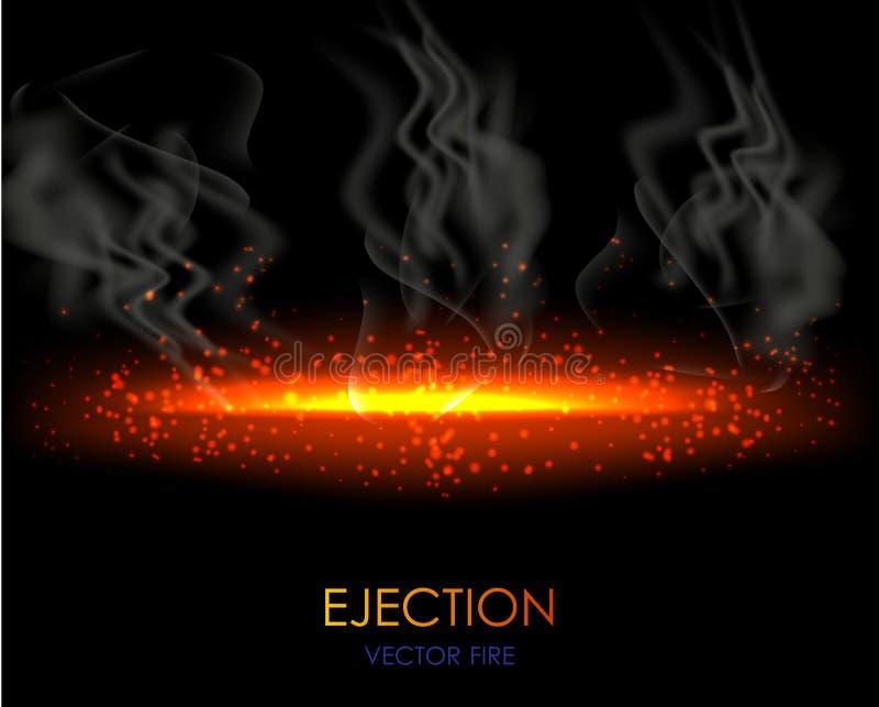 Ρεαλιστική φλόγα πυρκαγιάς απεικόνιση αποθεμάτων