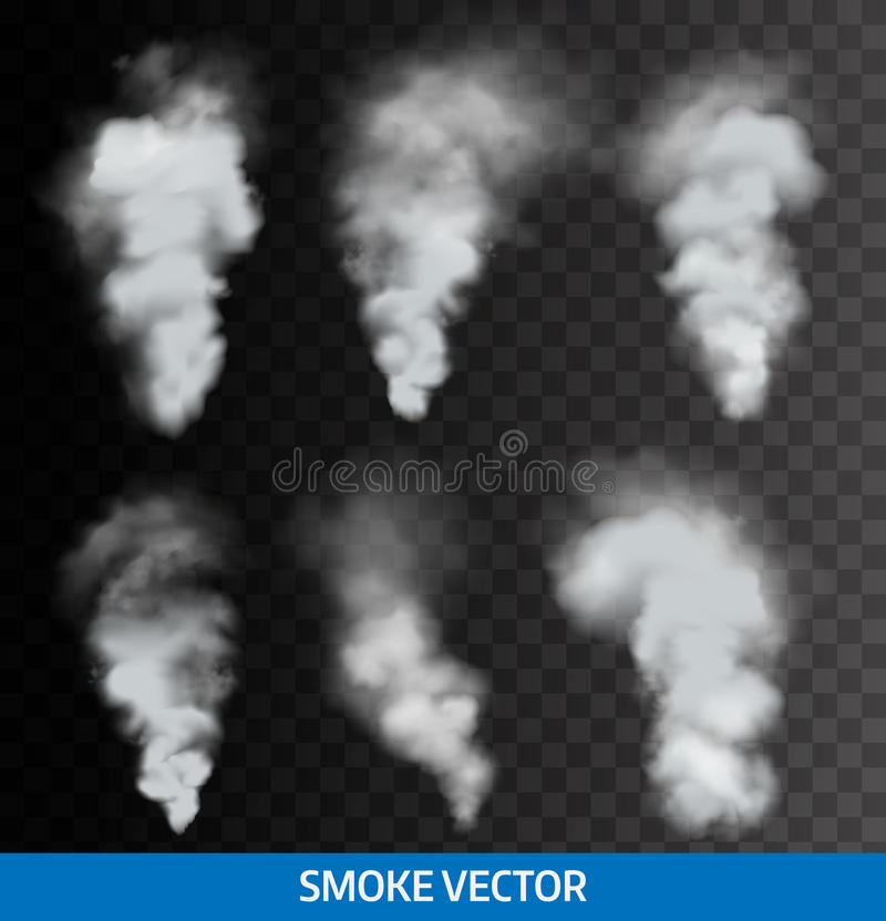 Ρεαλιστικός διαφανής καπνός, ατμός διάνυσμα στοκ φωτογραφίες με δικαίωμα ελεύθερης χρήσης